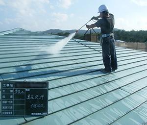 屋根塗装-高圧洗浄